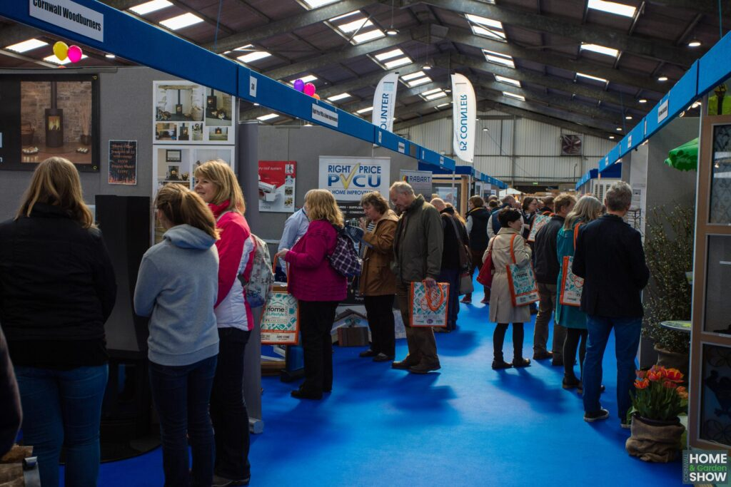 Crowd of People viewing trade show
