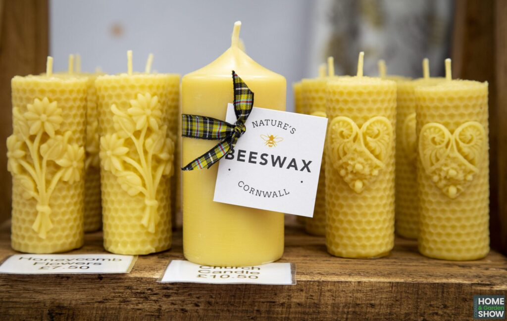 yellow beeswax nature candles from cornwall
