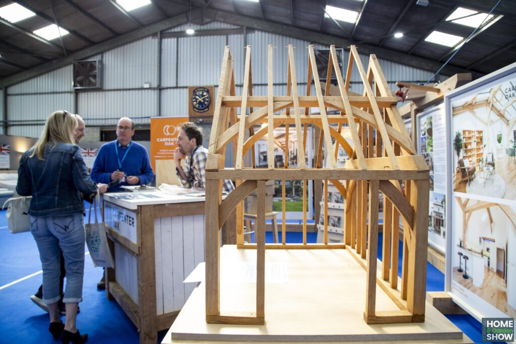 carpenter stand with wooden built structure
