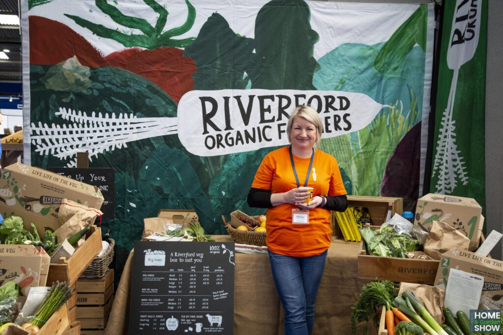 smiley riverford organic farmers exhibition stand