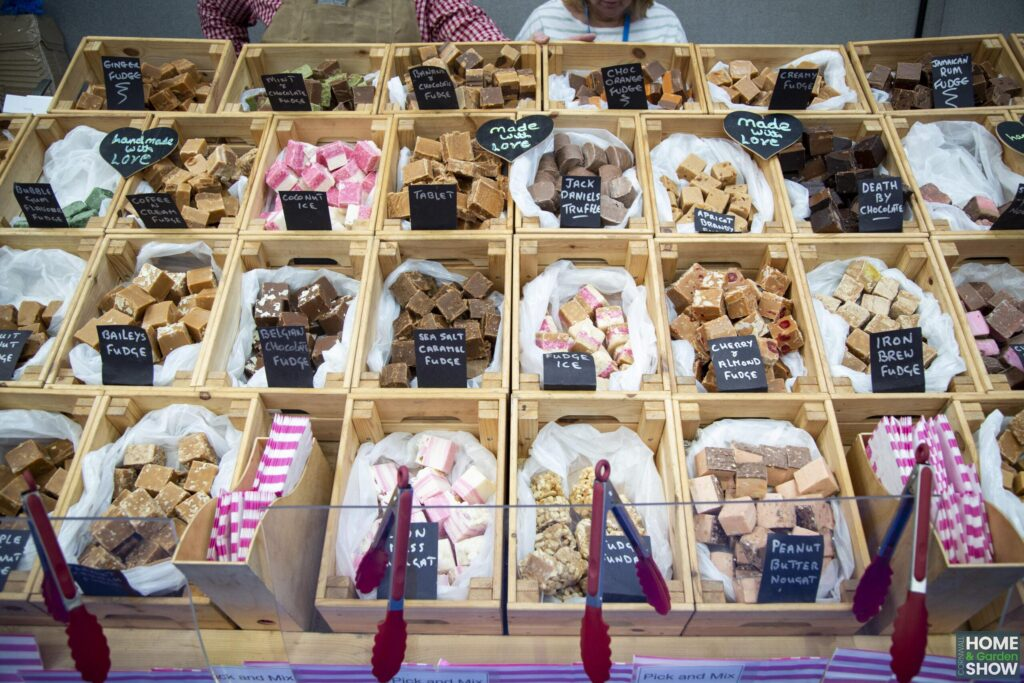 A selection of Cornish fudge at the Cornwall Home & Garden Show, A bite of Cornwall food and drink market