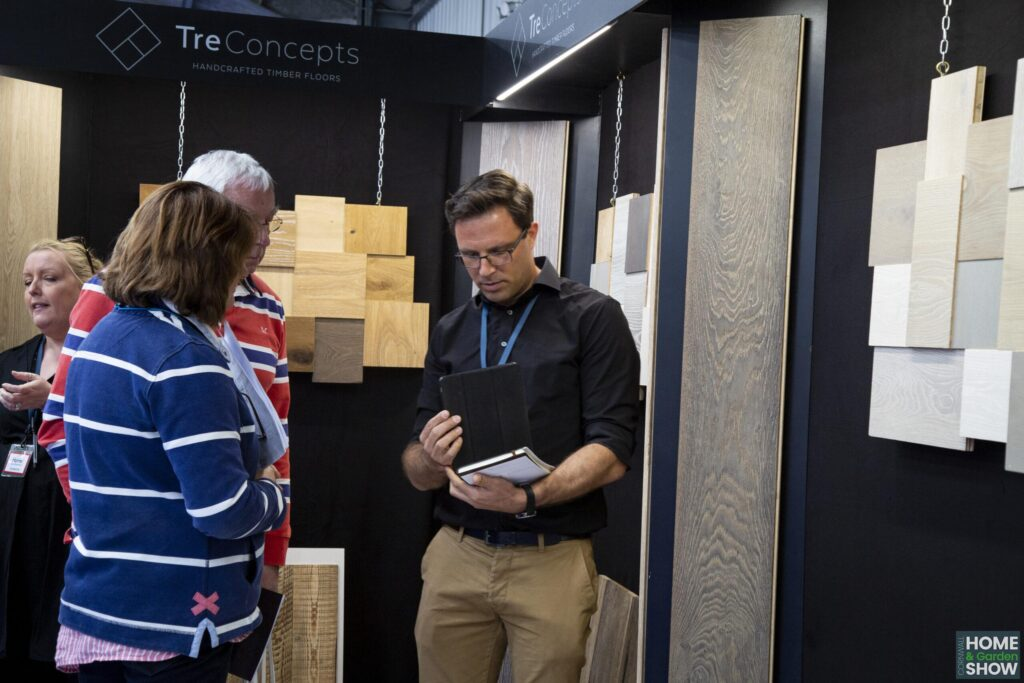 Hand crafter timber floors at the Cornwall Home & Garden Show