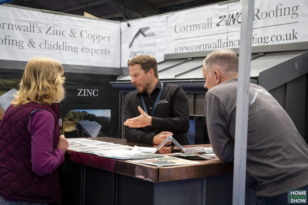 Zinc and Copper roofing and cladding solutions at the Cornwall Home & Garden Show